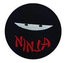 Ninja Japanese Samurai Motorcycle Fat Boy Embroidered Iron On Patch Free Ship
