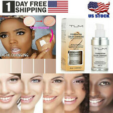 30ml Tlm Color Changing Foundation Whitening Makeup Base Nude Fundation Cream Us
