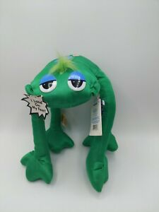 """Vintage 1980's Applause Lanky Doodles Green Frog 8"""" RARE HTF"""
