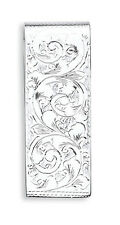 Silver Money Clip Solid Silver Hallmarked Money Clip - British Made