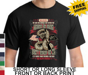 Patriotic Liberty Or Death Don't Tread On Me Snake Bless America Men's T Shirt
