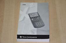 manuel d'utilisation pour Calculatrice TI 83 - texas instruments