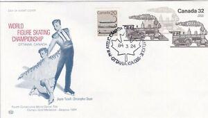 CANP060) FDC Canada 1984, World Figure Skating Championship, Ottawa, Canada, Jay