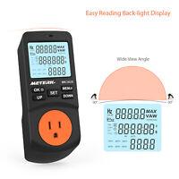 Plug-in LCD Power Watt Meter Digital Timer Socket Electricity Energy Monitor