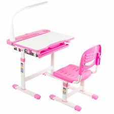 Vivo Pink Height Adjustable Children's Desk and Chair | Kids Interactive Station