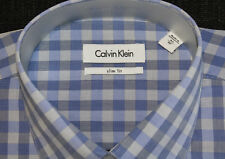 Calvin Klein Formal Shirt Size 42 Sleeve 92 Check Slim Fit Business CK New 1.3