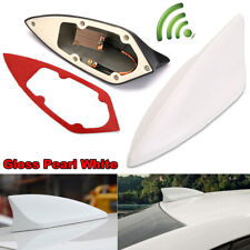 Pearl White Upgraded Signal Universal Shark Fin Antenna Car Roof Radio Aerial