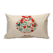 Home Decoration Pillow Case Cushion Merry Christmas Letter Sofa Bed Cover Linenv #8