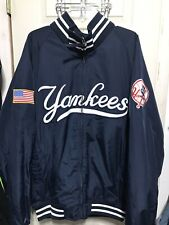 New York YANKEES Jacket Coat MAJESTIC Navy Blue White MLB Men's XXL full zipper