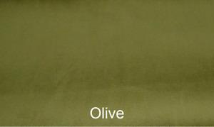 OLIVE Plush Plain FIRE RETARDANT Velvet Upholstery / Curtain Fabric