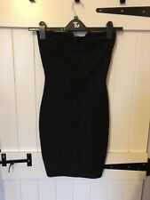 Size 8 AX Paris Strapless Bodycon Little Black Dress, LBD
