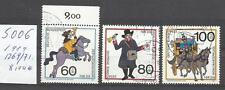 5006-SERIE COMPLETA ALEMANIA 1989 HISTORIA DEL CORREO 1269/71 8,00€ YVERT