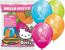 12 Hello Kitty Latex Balloons Birthday Decorations Party Supplies Favors Prizes