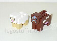NEW LEGO® MINECRAFT Castle minifigure White SHEEP Brown COW figure farm 21114