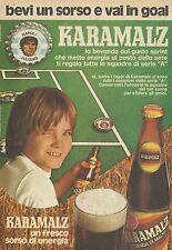 X4968 KARAMALZ un fresco sorso di energia - Pubblicità 1974 - Advertising