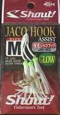 ASSIST JACO HOOK GLOW JH-03 SIZE M SHOUT PESCA AMI FISHING METAL JIG PE VERTICAL
