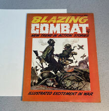 VINTAGE 1966 BLAZING COMBAT 2 WARREN MAGAZINE WAR COMIC BOOK ORIGINAL WORN COVER