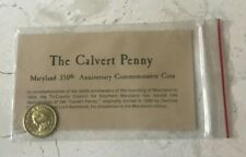 The Calvert Penny Maryland 350th Anniversary Commemorative Coin