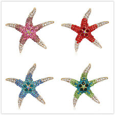 Selectable Color New Fashion Lucky Gifts Jewelry Rhinestones Star Brooch Pin