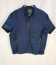 G-Star Women Raw Correct Soredo Loose Chopper Jacket Imperial Blue Size S