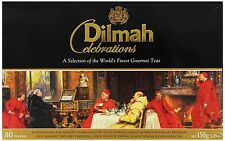 Ceylon tea Dilmah Celebrations Collection 80 TEAS BAGS Set Free Shipping.