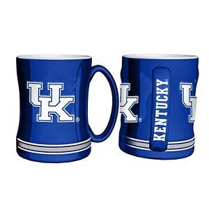 Kentucky Wildcats 14oz Sculpted Relief Coffee Mug NCAA