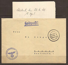 GERMANY. 1942. WW2. FIELD POST. COVER. FPO 14704.  MUTE CANCEL. WITH ORIGINAL CO
