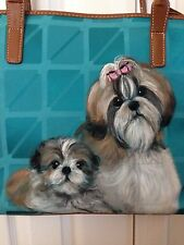 Shih Tzu Hand Painted Handbag Pocketbook Tote - New - BEAUTIFUL!