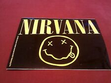 "Nirvana Smiley 4 1/2""x3 1/2"" Sticker Decal"