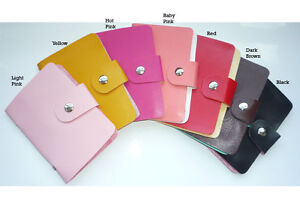 PU Leather Credit Debit ID Card Holder Case Wallet Purse 24 Cards Pocket