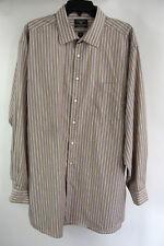 Dockers XL Dress Shirt Brown Stripes Long Sleeve Button Front 17 - 34/35