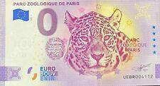 BILLET 0  EURO  PARC ZOOLOGIQUE DE PARIS ANNIVERSARY FRANCE 2020 NUMERO DIVERS