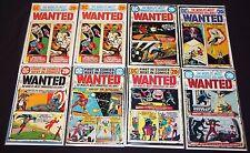 VINTAGE DC BRONZE WANTED COMIC COLLECTION LOT 8pc #1-4, 6, 7, 9x2 JOKER BATMAN