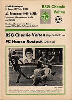 FDGB-Pokal 89/90 BSG Chemie Velten - FC Hansa Rostock, 30.09.1989