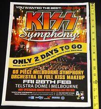 KISS Band Symphony Melbourne Australia Aussie Promo Concert Ad Advert Poster