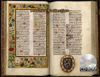Psalter Collection 1200-1600 AD 14 Books of Manuscript Psalterium Calendario etc