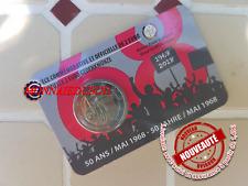 2 Euro CC Coincard BU Belgique 2018-Révolte Etudiante Mai 1968 Version Française
