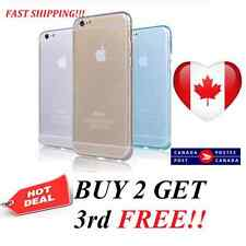 NEW Clear Soft Silicone Gel Transparent case cover TPU for iPhone5 5s 6 6s 6Plus