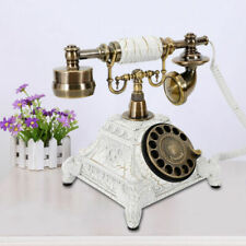Vintage Antique Phone Handset European Style Rotary Dial Telephone Decor Gift