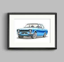 FORD Escort RS2000 MK1-POSTER STAMPA Dimensione A1