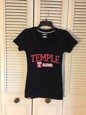 JanSport NCAA Temple Owls Women`s Alumni V Neck T-SHIRT Black Size Small