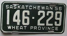 Saskatchewan 1956 License Plate NICE QUALITY # 146-229