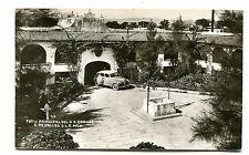 Vintage Postcard RPPC CUIDAD DE VALLES Mexico HOTEL CASA GRANDE Patio Old Car