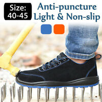 Man Safety Work Shoes Steel Toe Cap Boots Lightweight Fashion Hiking Climbing