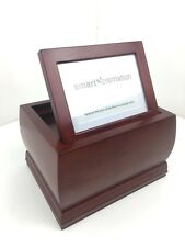 Smart Cremation Dark Cherry Wood Finish Large Felt Lined Picture Frame URN A145