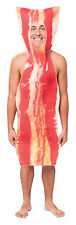Unisex Streaky Bacon Fancy Dress Costume Cooked Pork Farmer Funny Outfit New