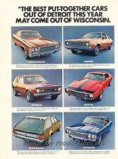 1972 AMC Javelin Gremlin Hornet 2-page Advertisement Print Art Car Ad J821