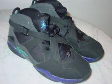 "2011 Nike Air Jordan 8.0 ""Aqua"" Black/Dark Concord/Anthracite Shoes! Size 12"