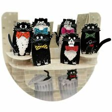 Santoro 3D Pop-Up Popnrock Greeting Card - Cats with Bowties