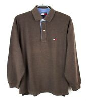 Tommy Hilfiger Hombre Jersey Cuello Polo Jersey Top Casual TALLA M Fz653